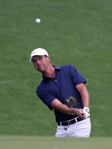 Amateur Andy Ogletree of the United States plays a shot on the 10th...