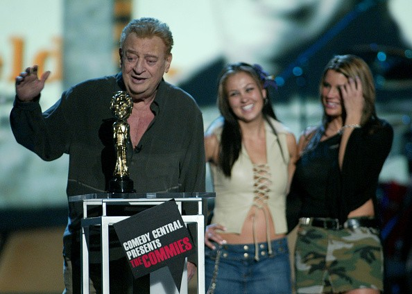 Rodney Dangerfield accepts the Comedy Idol Award during Comedy...