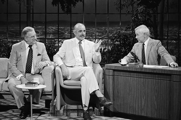 Announcer Ed McMahon and actor Sean Connery