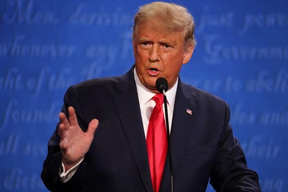 U.S. President Donald Trump participates in the final presidential...