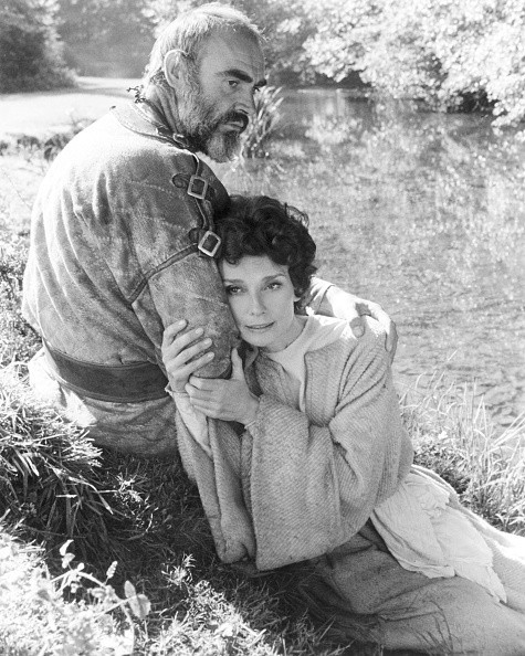 Audrey Hepburn as Lady Marian and Sean Connery as Robin Hood