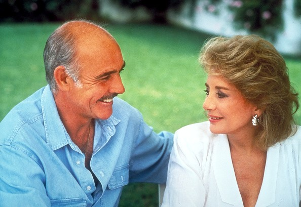 Sean Connery being interviewed by Barbara Walters at his home