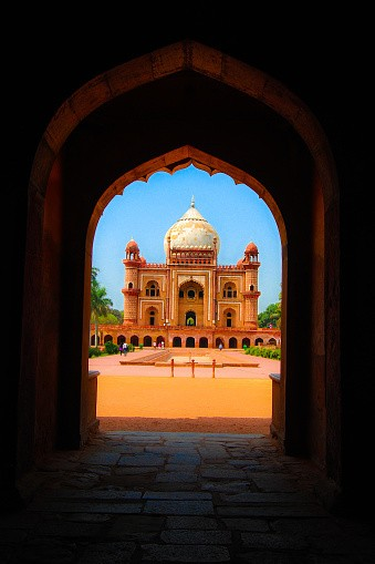 Safdarjung's Tomb is a sandstone and marble mausoleum in New Delh