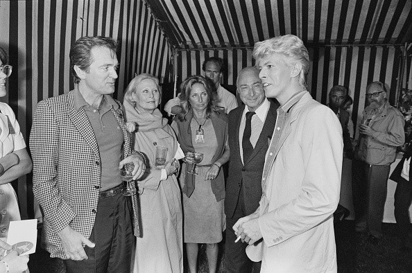 David Bowie with Philippe Labro, Michele Morgan, Danielle Thompson...