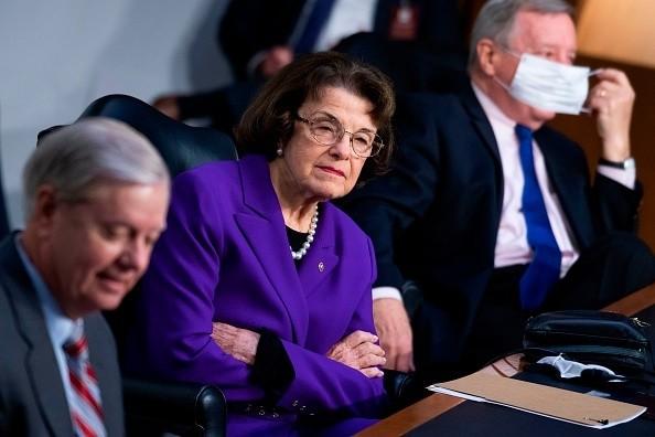 Ranking member Sen. Dianne Feinstein, D-CA, Chairman Lindsey Graham,...