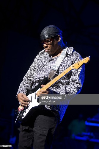 Guitarist Ricky Rouse performs at Chene Park on July 10, 2015 in...