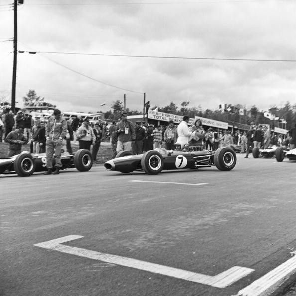 Jack Brabham grids his BT11 for the United States Grand Prix held...