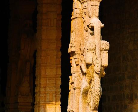 Carved pillar.