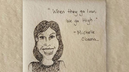 A+ Mom Creates Feminist Napkin Art for Daughter's School Lunches