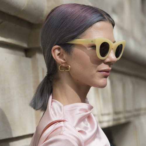Lavender-Gray Hair Is Spring's Most Unexpectedly Cool Color Trend