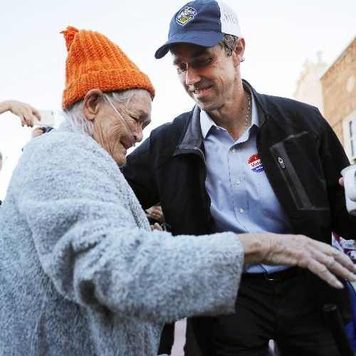 Watch This 77-Year-Old Texas Woman Get Emotional Over Voting for Senate Candidate Beto O'Rourke