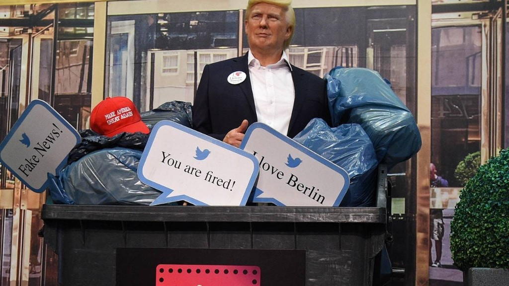 Donald Trump's Madame Tussauds Wax Figure Is Now Literally in the Trash