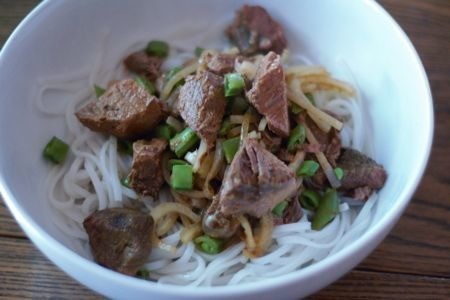 Dinner Tonight: Slow-Cooker Coconut-Curry Beef Over Rice Noodles