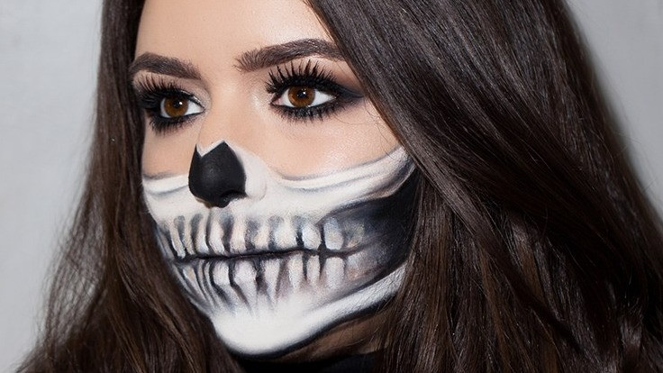 Half-Skeleton Makeup Is Trending for Halloween, and It's Scary Good