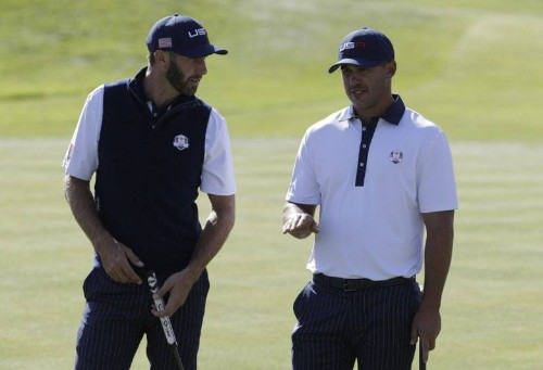 Reports: Dustin Johnson, Brooks Koepka, Paulina Gretzky and others separated at Ryder Cup party; Koepka's representation refutes story