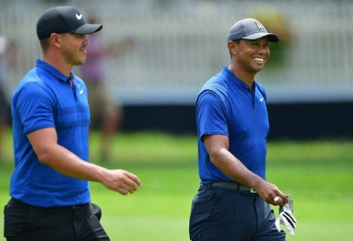 Brooks Koepka says he was 'in shock' Tiger Woods stayed to congratulate him at Bellerive