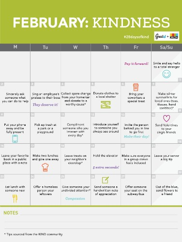 Greatist and KIND Healthy Snacks' 28-Day Kindness Challenge