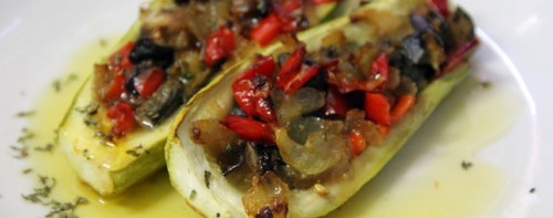 Veggie Stuffed Zucchini