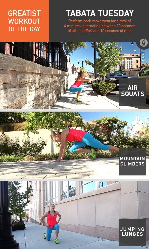 Greatist Workout of the Day: Tuesday, August 12th