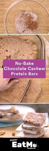 No-Bake Chocolate Cashew Protein Bars