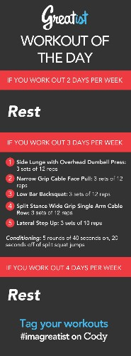 Greatist Workout of the Day: Wednesday August 7th