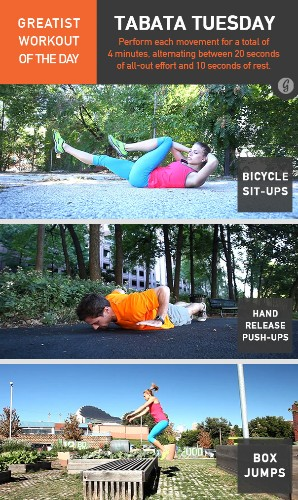 Greatist Workout of the Day: Tuesday, April 15th