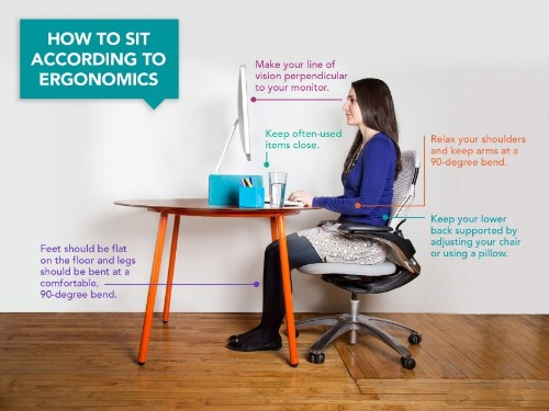 Here's How You Should Be Sitting at Your Desk (According to Ergonomics)