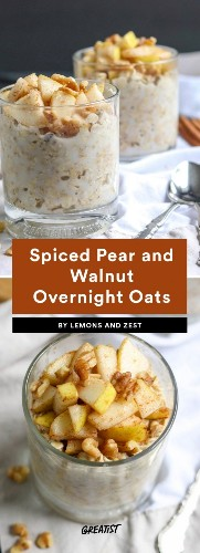 9 Overnight Oats Recipes That Are Basically Fall in a Bowl