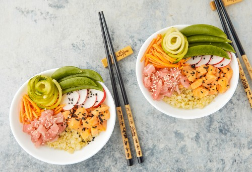 A 10-Minute Poke Bowl Recipe That's Actually Super Low-Carb