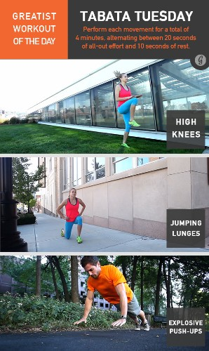 Greatist Workout of the Day: Tuesday, April 1