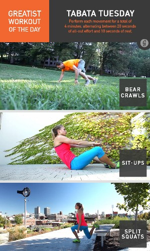 Greatist Workout of the Day: Tuesday, June 3rd