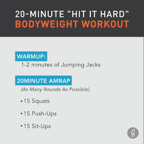 The 20-Minute Bodyweight Workout a CrossFit Champ Swears By