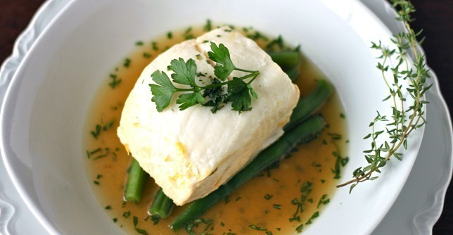 Lemon and Herb Poached Halibut