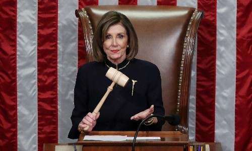 Nancy Pelosi on Trump and the power of the gavel: 'He'll be impeached for ever'