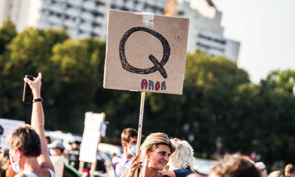 'Quite frankly terrifying': How the QAnon conspiracy theory is taking root in the UK