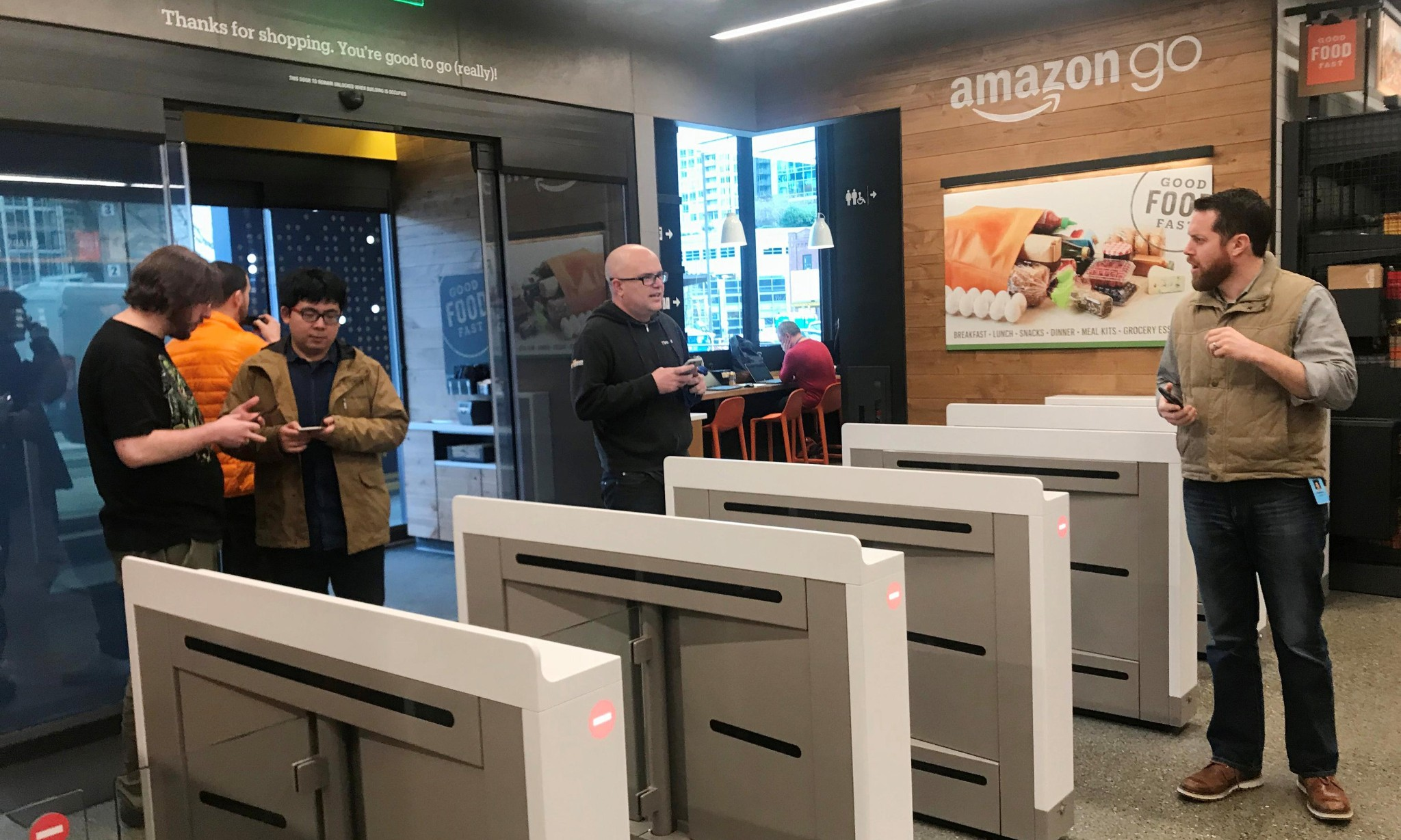 Amazon's first automated store opens to public on Monday