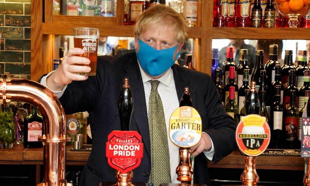 Johnson has seen the light on 'face coverings'. Just not on toxic mask-ulinity