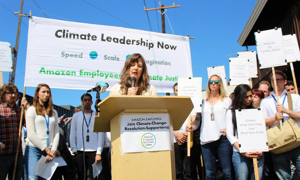 Amazon workers demand Bezos act on climate crisis