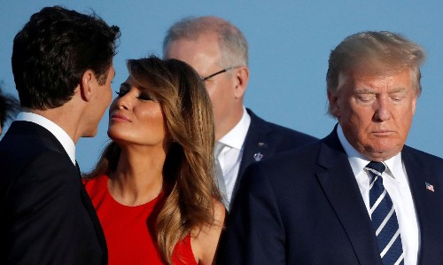 'Melania's ready to risk it all': first lady's Trudeau encounter delights internet