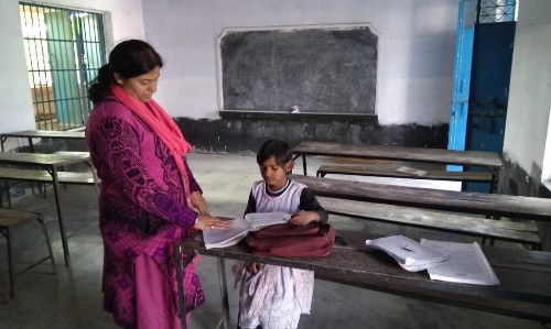 Indian state school has two teachers, a cook and one pupil