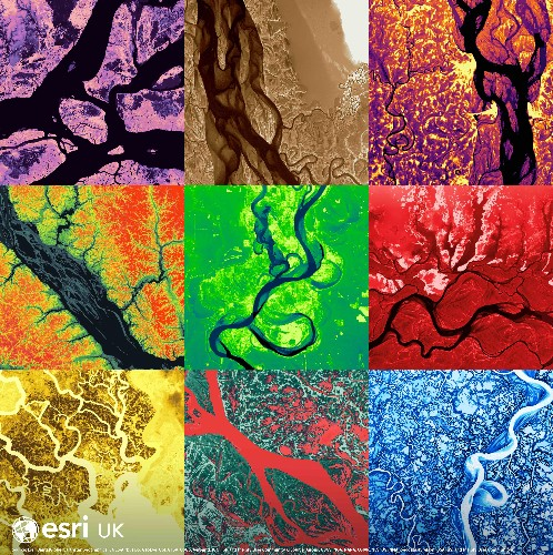 Show with the flow: elevation maps reveal world rivers
