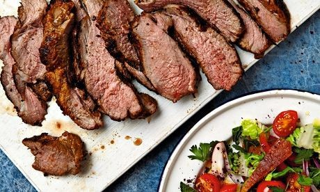 The weekend cook: Thomasina Miers' recipes for Moorish-style barbecued leg of lamb, and poached spiced apricots