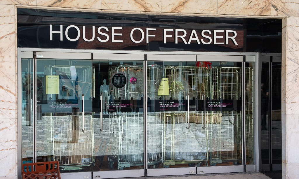 House of Fraser owner threatens landlords with store closures over rent
