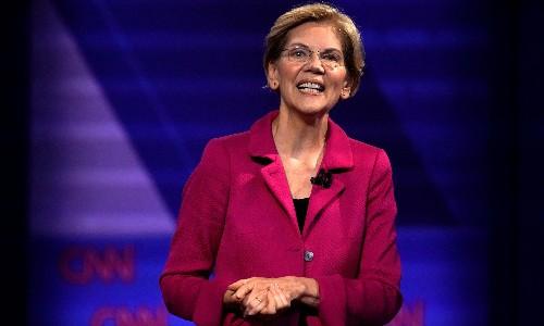 Elizabeth Warren's deadpan quip in LGBT debate wins plaudits