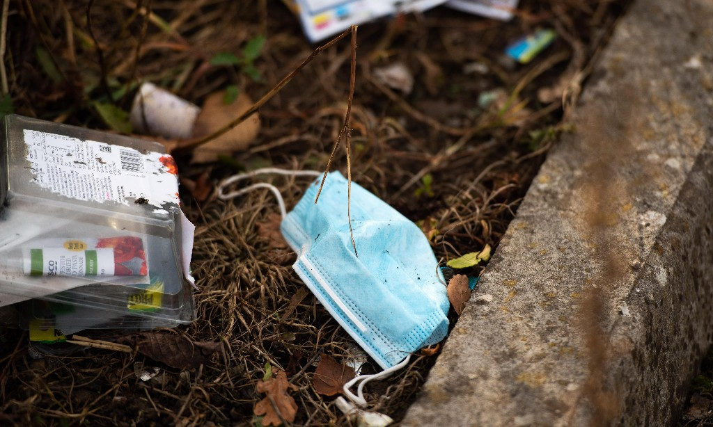 53m discarded Covid face masks in UK 'could be polluting the sea'