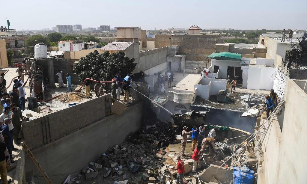 Dozens killed as passenger plane crashes near Karachi airport