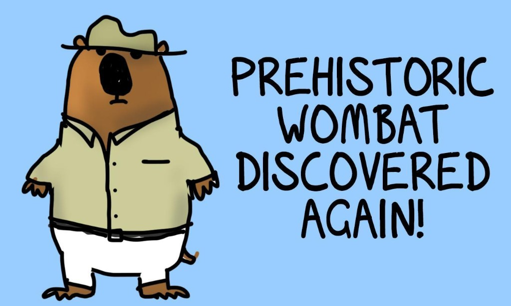 Today's good news: they found a new prehistoric wombat! Can't have too many