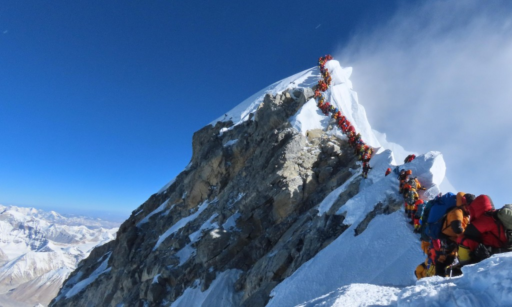 'Everyone is in that fine line between death and life': inside Everest's deadliest queue