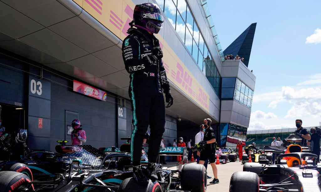 Lewis Hamilton storms to pole position for British Grand Prix at Silverstone