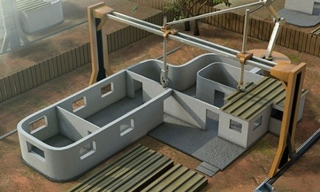 Work begins on the world's first 3D-printed house